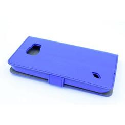 Samsung Galaxy S6 Active - G890 - Business Leatherette Housse coque - Bleu