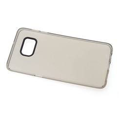 Silicone case Business for Samsung Galaxy S6 Edge Plus - Transparent black (8719273206799)