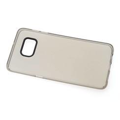 TPU Coque Business pour Samsung Galaxy S6 Edge Plus - Transparent Noir (8719273206799)