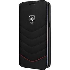 Ferrari Housse Genuine Leather pour Samsung Galaxy S8 Plus - Noir (3700740399873)