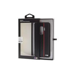 BMW silicon coque Carbon Stripe pour Galaxy S9 Plus - Rouge (3700740426531)
