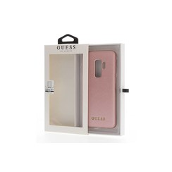 Guess silicon coque Iridescent pour Galaxy S9 Plus - Rose Or (3700740426876)