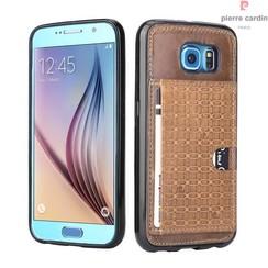Samsung Galaxy S6 - G9200 - Pierre Cardin Silicone coque - marron (8719273214589)