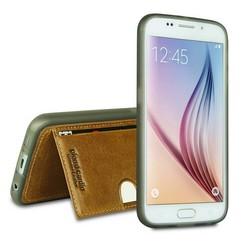 Samsung Galaxy S6 - G9200 - Pierre Cardin Silicone coque - marron (8719273214763)