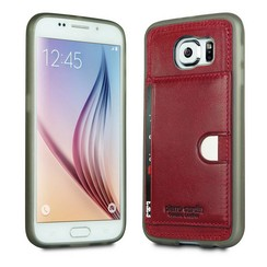 Samsung Galaxy S6 - G9200  - Pierre Cardin Silicone coque - rouge (8719273214770)