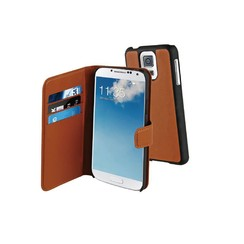 muvit Book case voor Samsung Galaxy S5 - Bruin
