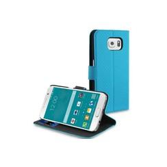 Samsung Galaxy S6 Kartenhalter Blau Book-Case hul -Magnetverschluss - Kunststof;TPU