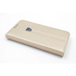 Samsung Galaxy S6 Titulaire de la carte Or Book type housse - Fermeture magnétique