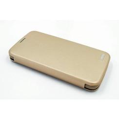 Samsung Galaxy S7 Titulaire de la carte Or Book type housse - Fermeture magnétique