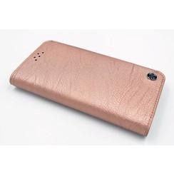 Samsung Galaxy S6 Titulaire de la carte Rose Book type housse - Fermeture magnétique