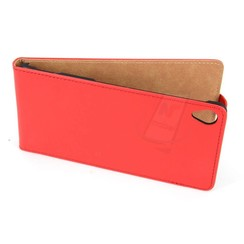 Sony Sony Xperia Z3 Card holder Red Book type case for Sony Xperia Z3 Magnetic closure