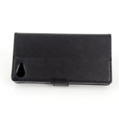 Sony Sony Xperia Z5 Compact Titulaire de la carte Noir Book type housse - Fermeture magnétique
