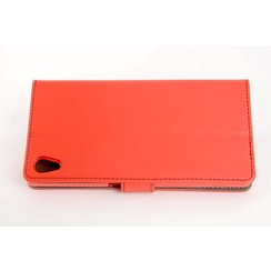 Sony Sony Xperia Z5 Card holder Red Book type case for Sony Xperia Z5 Magnetic closure