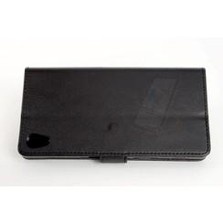 Sony Sony Xperia Z5 Pasjeshouder Zwart Booktype hoesje - Magneetsluiting - Kunststof;TPU