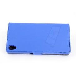 Sony Sony Xperia Z5 Titulaire de la carte Bleu Book type housse - Fermeture magnétique
