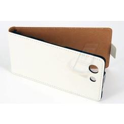 Sony Sony Xperia Z3 Compact Pasjeshouder Wit Booktype hoesje - Magneetsluiting - Kunststof;TPU