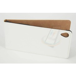 Sony Sony Xperia Z3 Pasjeshouder Wit Booktype hoesje - Magneetsluiting - Kunststof;TPU