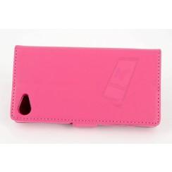 Sony Sony Xperia Z5 Compact Pasjeshouder Roze Booktype hoesje - Magneetsluiting - Kunststof;TPU