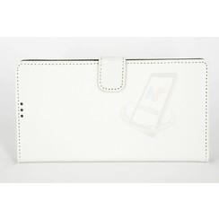 Sony Sony Xperia Z5 Premium Compact Titulaire de la carte Blanc Book type housse - Fermeture magnétique