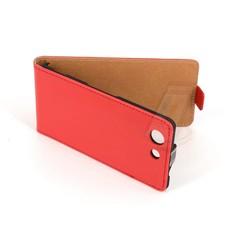 Sony Sony Xperia Z3 Compact Titulaire de la carte Rouge Book type housse - Fermeture magnétique