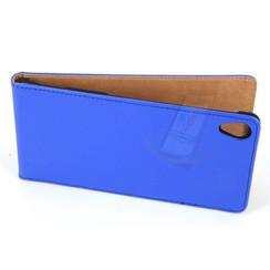 Sony Sony Xperia Z3 Pasjeshouder Blauw Booktype hoesje - Magneetsluiting - Kunststof;TPU