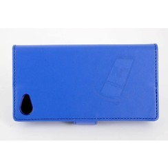 Sony Sony Xperia Z5 Compact Card holder Blue Book type case for Sony Xperia Z5 Compact Magnetic closure
