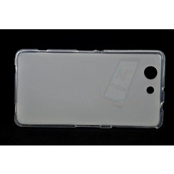 Sony  Xperia Z3 Compact - D5803 - Matt Backcover Silicone coque - Clear