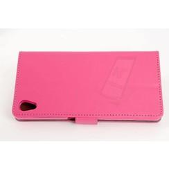 Sony Sony Xperia Z5 Titulaire de la carte Rose Book type housse - Fermeture magnétique