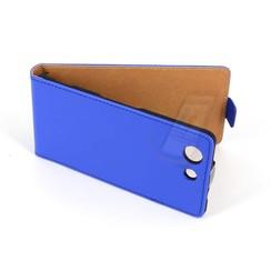 Sony Sony Xperia Z3 Compact Titulaire de la carte Bleu Book type housse - Fermeture magnétique