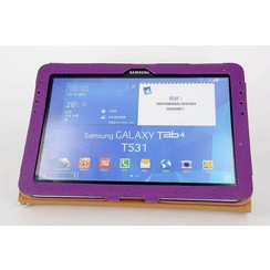 Samsung Paars Book Case Tablet voor Galaxy Tab 4 10.1