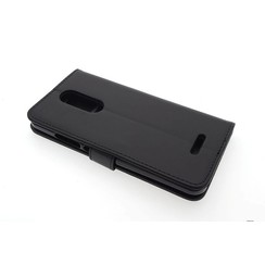 Wiko Wiko U Plus Card holder Black Book type case for Wiko U Plus Magnetic closure