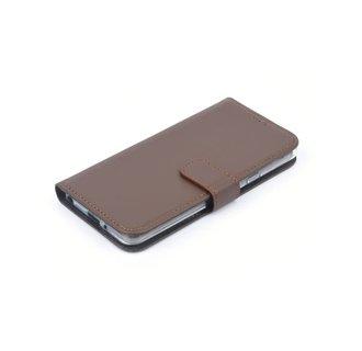 Sony Sony Xperia XZ2 Compact Pasjeshouder Bruin Booktype hoesje - Magneetsluiting - Kunststof;TPU