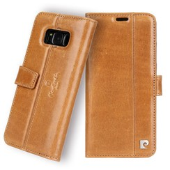 Pierre Cardin Housse Genuine Leather pour Samsung Galaxy S8 - Marron (8719273133798)