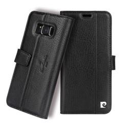 Pierre Cardin Housse Genuine Leather pour Samsung Galaxy S8 Plus - Noir (8719273133811)