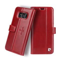 Pierre Cardin Housse Genuine Leather pour Samsung Galaxy S8 Plus - Rouge (8719273133835)