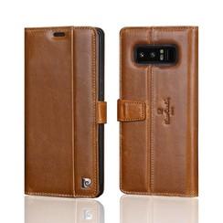 Pierre Cardin Book case voor Samsung Galaxy Note 8 - Bruin