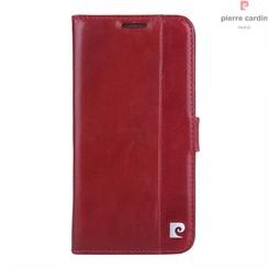 Samsung Galaxy S7 Titulaire de la carte Rouge Book type housse - Fermeture magnétique
