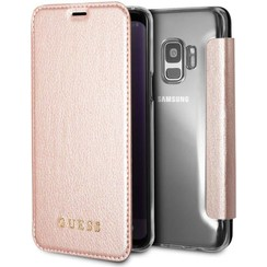 Guess Housse Iridescent pour Galaxy S9 - Rose Or (3700740426883)