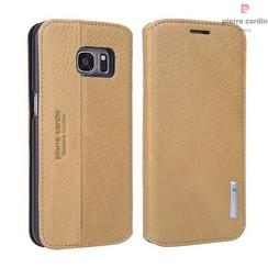 Samsung Galaxy S7 Titulaire de la carte Jaune Book type housse - Fermeture magnétique