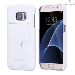 Pierre Cardin Backcover voor Samsung Galaxy S7 - Wit