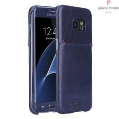 Pierre Cardin Backcover voor Samsung Galaxy S7 Edge - Sapphire Blauw