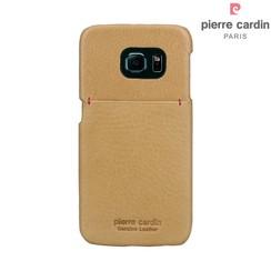Pierre Cardin Backcover voor Samsung Galaxy S6 Edge - Geel