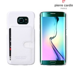 Pierre Cardin Backcover voor Samsung Galaxy S6 Edge - Wit