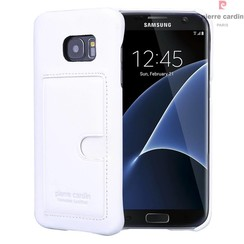 Pierre Cardin Backcover voor Samsung Galaxy S7 Edge - Wit
