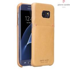 Pierre Cardin Backcover voor Samsung Galaxy S7 Edge - Geel