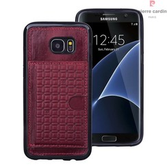 Pierre Cardin Backcover voor Samsung Galaxy S7 Edge - Rood