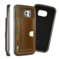 Pierre Cardin Backcover voor Samsung Galaxy S6 Edge - Bruin