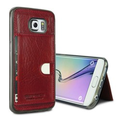 Pierre Cardin Backcover voor Samsung Galaxy S6 Edge - Rood