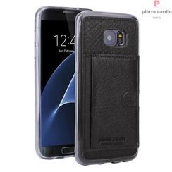 Pierre Cardin Backcover voor Samsung Galaxy S7 Edge - Zwart