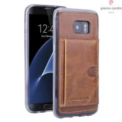 Pierre Cardin Backcover voor Samsung Galaxy S7 Edge - Bruin